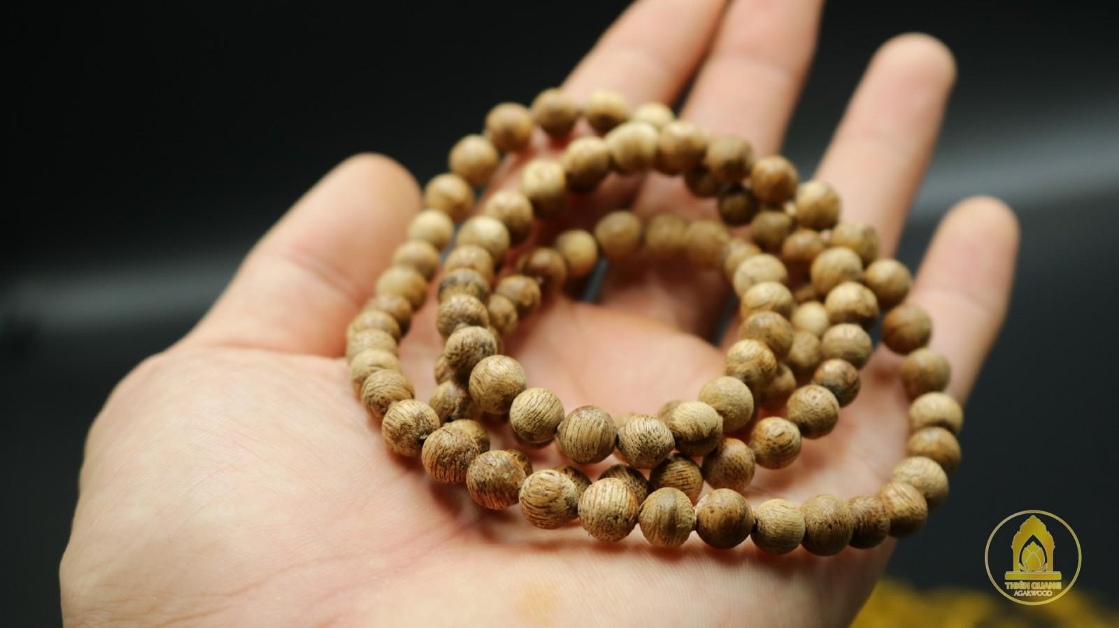 Chuỗi hạt trầm hương 108 hạt